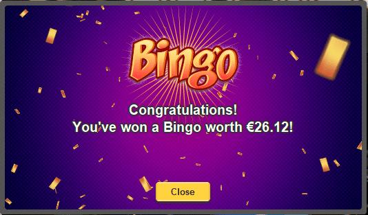 Gewinn beim Bingo