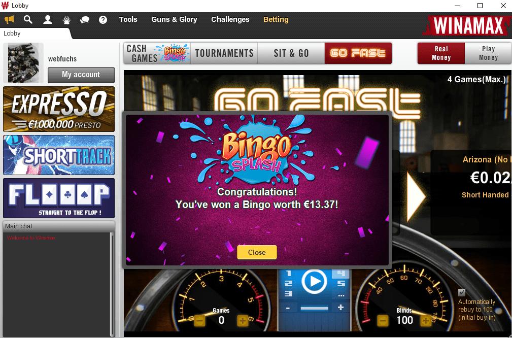 Winamax Bingo